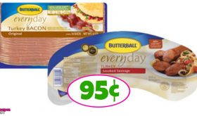 WOW!  Butterball Turkey Bacon and Sausage 95¢ at Publix!