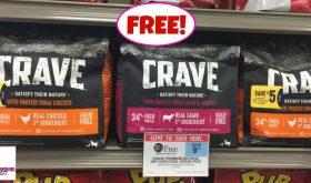 Crave Dog Food 4 lb bags FREEEEEE at Publix!