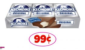 Klondike Bars 99¢ each for some at Winn Dixie!