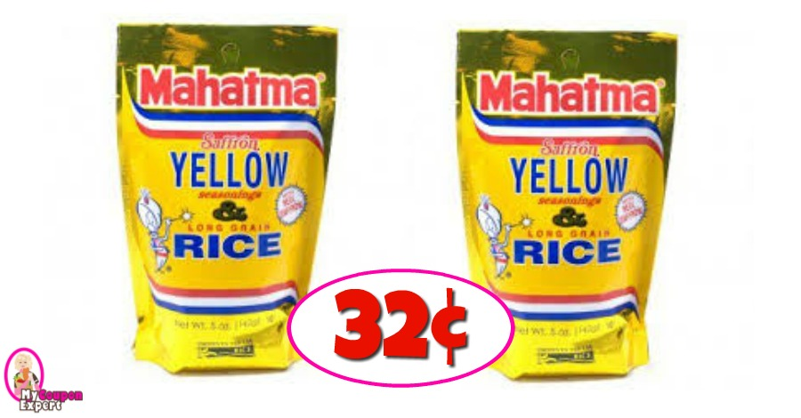 Mahatma Yellow Rice 32¢ each at Winn Dixie!