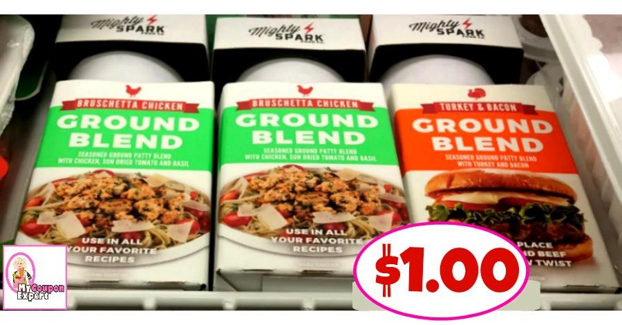 Mighty Spark Ground Blend Turkey or Chicken $1.00 at Publix!