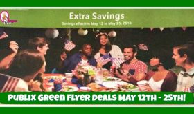 Publix GREEN Flyer Deals May 12th – 25th!