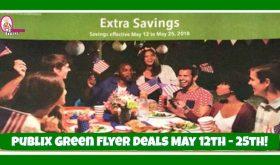 Publix GREEN Flyer Deals May 12th – 25th!