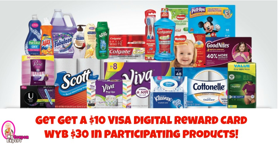 Get a $10 Visa Gift Card wyb $30 in products at Publix!