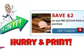 Hurry!!  HIGH VALUE Fresh Pork Coupon!