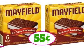 Mayfield Ice Cream Bars 55¢ at Publix in some areas!
