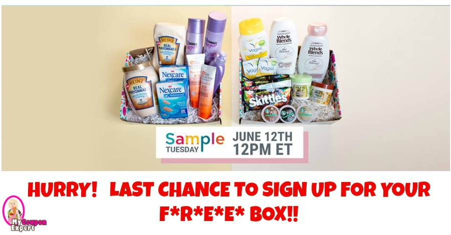 Get ready for your F*R*E*E* Sample Box for June!