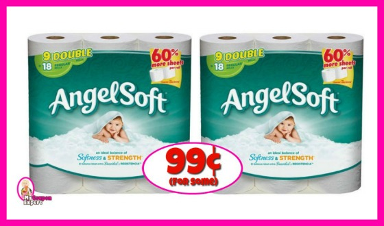 Angel Soft 9 Double Rolls 99¢ for some at Winn Dixie!