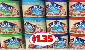 Blue Diamond Almonds $1.35 each at Publix!