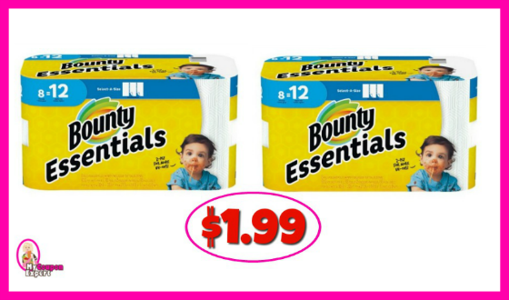 Bounty Paper Towels 8 pack $1.99 at Winn Dixie!
