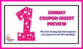 Coupon Inserts Sunday, July 1st plus HOT Target Qs!!