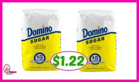 Domino Sugar 4 lb bag – $1.22 at Publix!