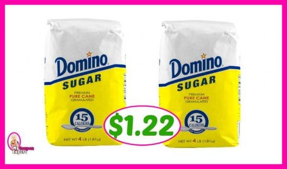 Domino Sugar 4 lb bag – $1.22 at Publix!