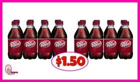 Dr Pepper 8 packs $1.50 at Publix!