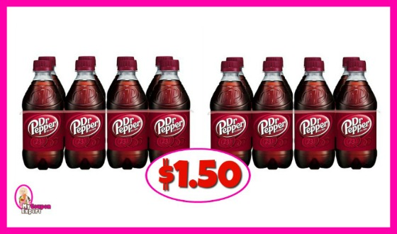 Dr Pepper 8 packs $1.50 at Publix!