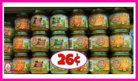 Earths Best Organic Baby Food 26¢ each at Publix!