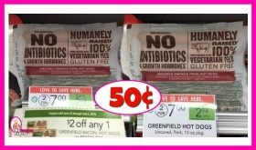 Greenfield Hot Dogs 50¢ at Publix!
