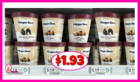 Haagen-Daz Ice Cream Pints – $1.93 at Publix!