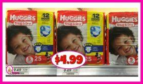 Huggies Jumbo Packs $4.99 at Publix!