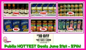 Publix HOTTEST DEALS June 21st – 27th!