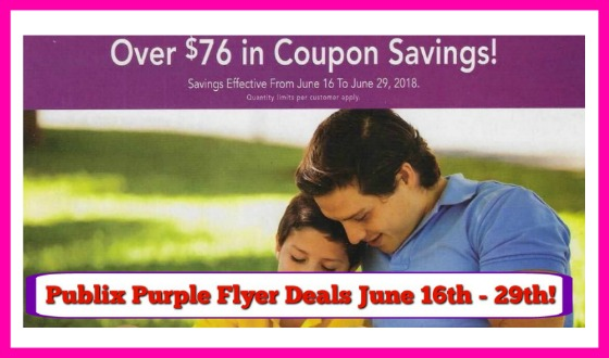 Publix Purple Flyer Matchups and Deals June 16th – 29th!
