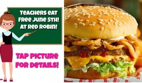 Teachers & School Bus Drivers eat FREE at Red Robin June 5th!