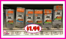 Right Guard Xtreme Deodorant $1.44 at Publix