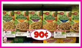 Betty Crocker Suddenly Salad 90¢ at Publix!
