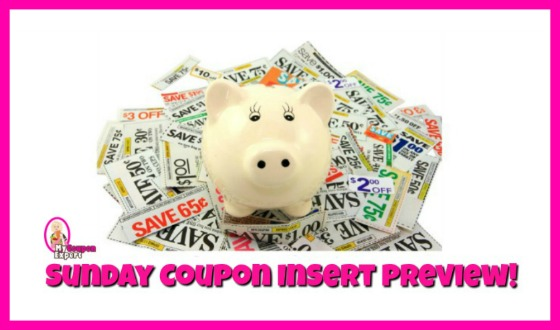 Coupon Insert Preview – Sunday, August 5th!  FOUR inserts!