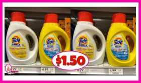 Tide Simply Liquid $1.50 at Publix!