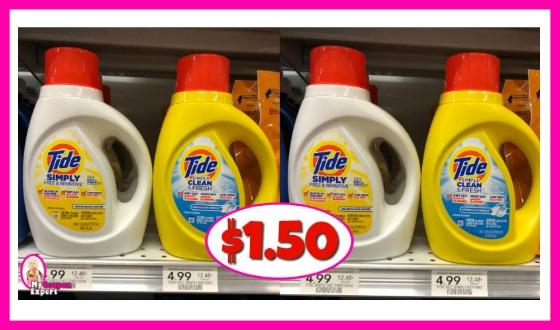 Tide Simply Liquid $1.50 at Publix!