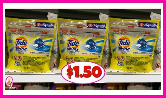 Tide Simply Pods $1.50 at Publix!
