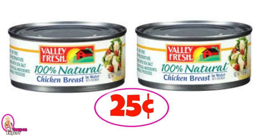 Valley Fresh Chicken Breast – 25¢ each at Winn Dixie