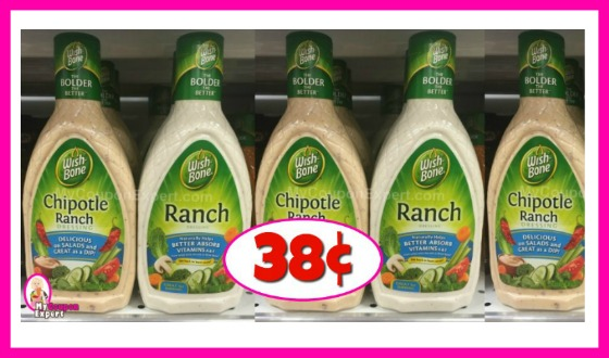 Wish-Bone Dressing 38¢ at Winn Dixie!