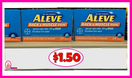 Aleve Back and Muscle Pain Relief $1.50 each at Publix!