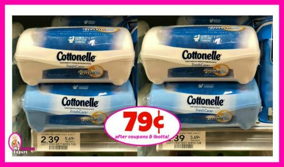 Cottonelle Wipes 42ct – 79¢ at Publix!