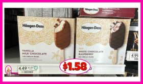 Haagen-Daz Ice Cream Bars $1.58 at Publix!