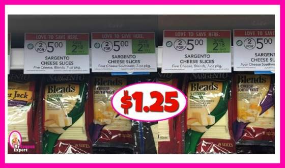 Sargento Cheese Slices $1.25 at Publix!