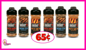 Weber Seasonings – 65¢ at Publix!