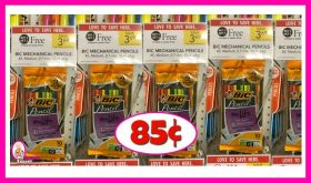 BiC Mechanical Pencils 10pk 85¢ at Publix!