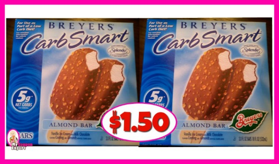 Breyers Carb Smart Bars $1.50 at Publix!