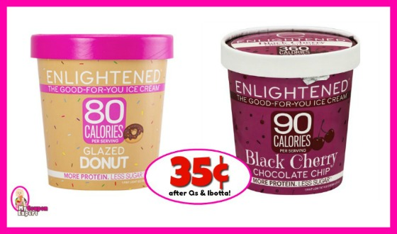 Enlightened Ice Cream 35¢ at Publix after Qs & Ibotta!