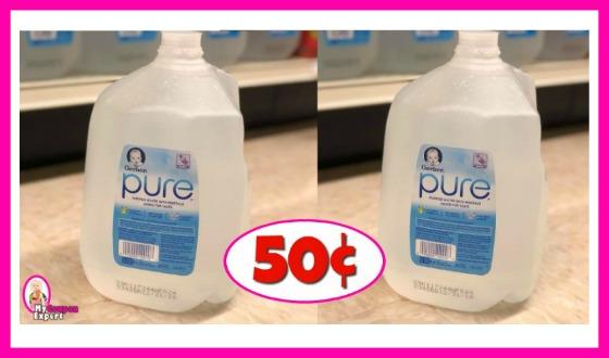 Gerber Pure Water 50¢ at Publix!