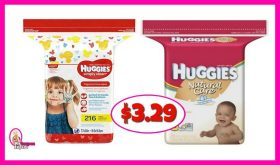 Huggies Wipes, 168-216 ct just $3.29 at Publix!