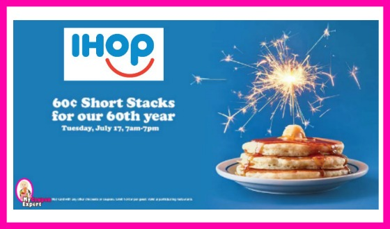 Mark the date!  IHOP Short Stacks 60¢ each!
