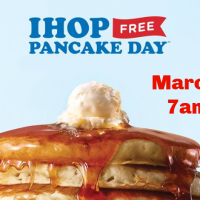 National Pancake Day!  FREE Pancakes at IHOP!