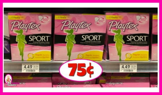 Playtex Sport Tampons 75¢ each at Publix!