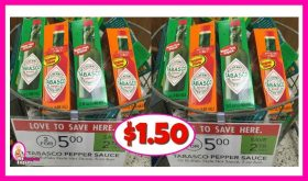 *NEW PRINTABLE* Tabasco Deal at Publix!