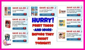 END OF MONTH!  Print these coupons IMMEDIATELY!