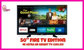 LOOK! 50″ 4k Smart TV for $289.99 Amazon Prime Day!